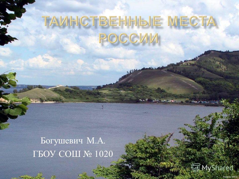 Богушевич М. А. ГБОУ СОШ 1020