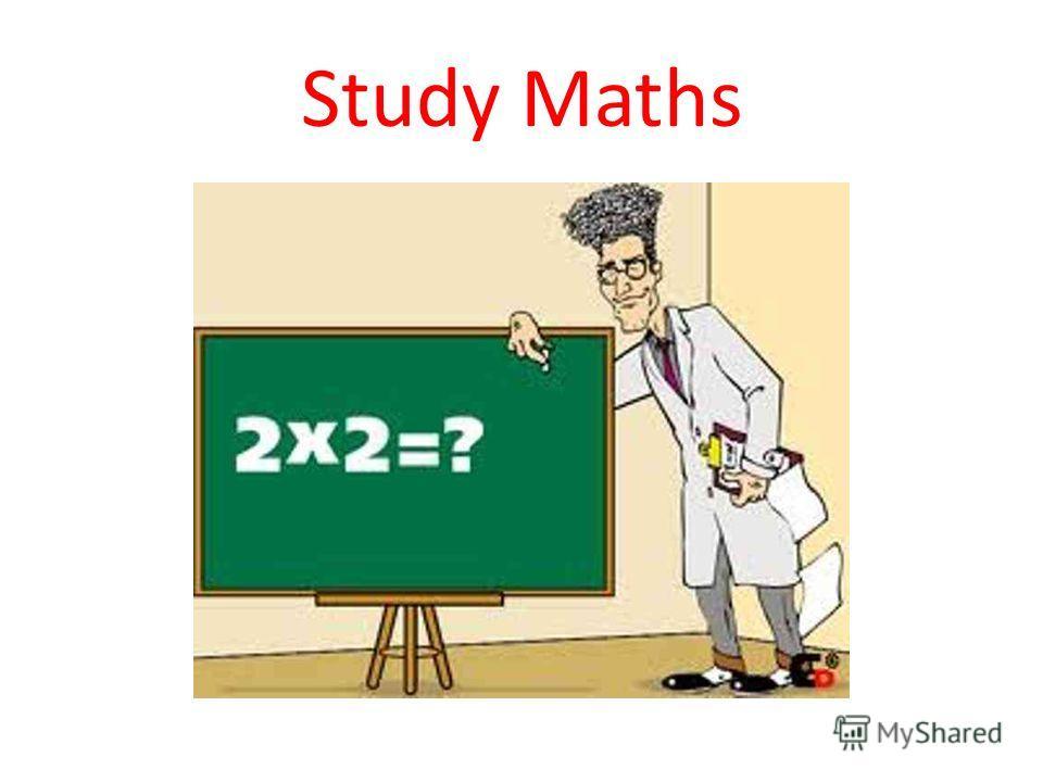 Study Maths
