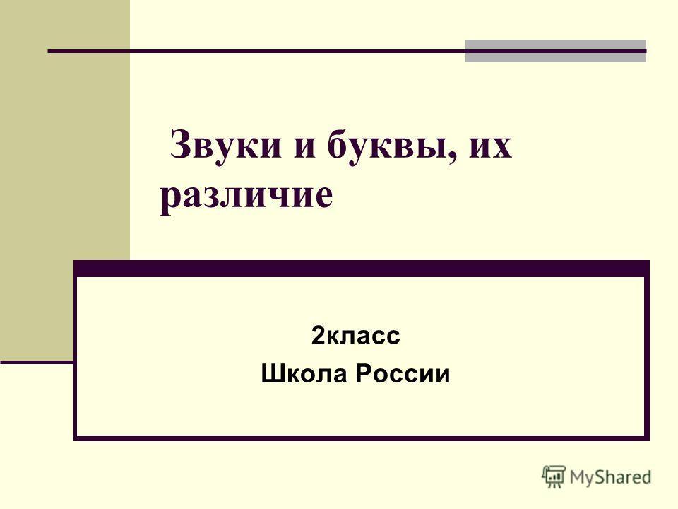 Звуки и буквы, их различие 2класс Школа России