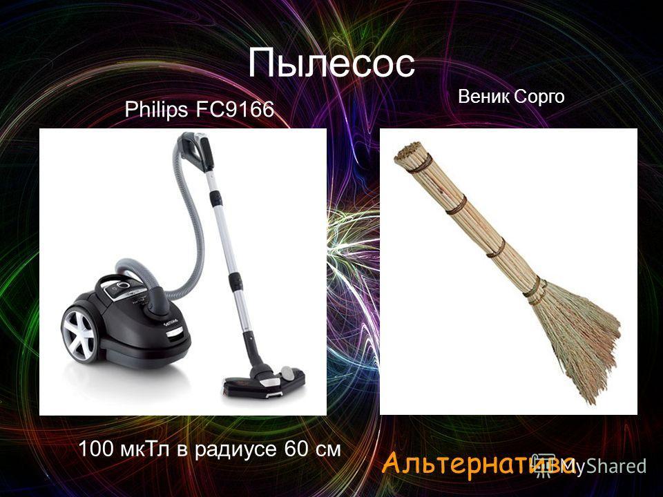 Пылесос Philips FC9166 100 мкТл в радиусе 60 см Веник Сорго Альтернатива