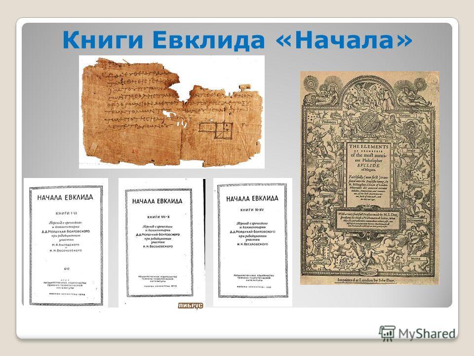 Книги Евклида «Начала»