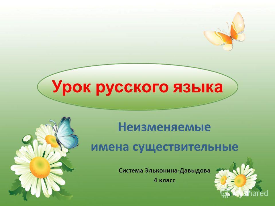 Урок русского языка Неизменяемые имена существительные Система Эльконина-Давыдова 4 класс