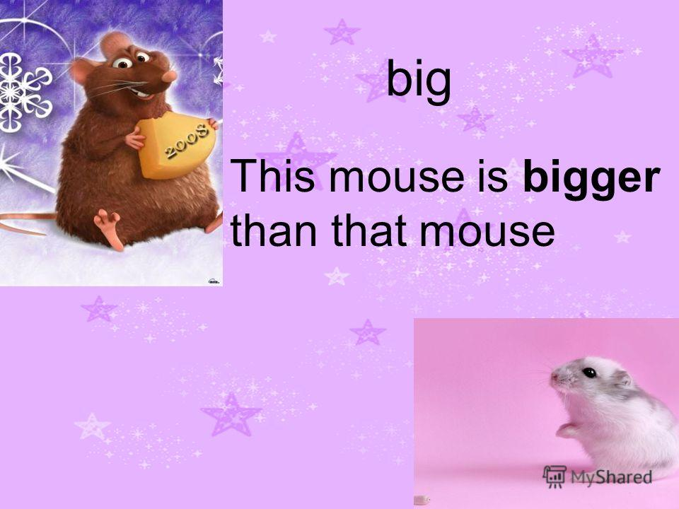 big This mouse is bigger than that mouse