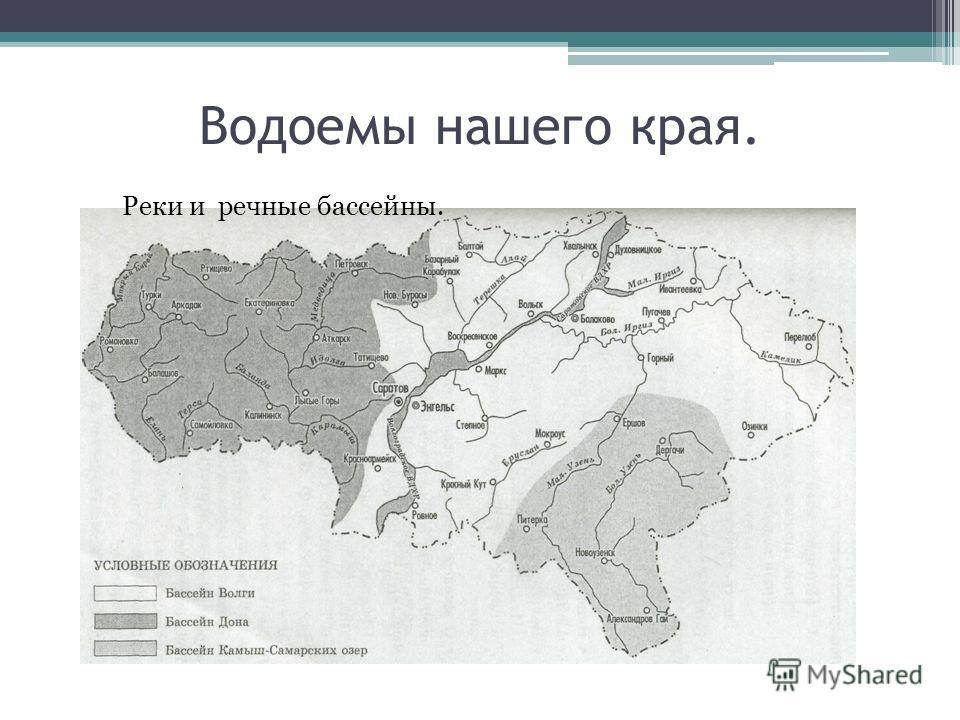 Водоемы нашего края. Реки и речные бассейны.