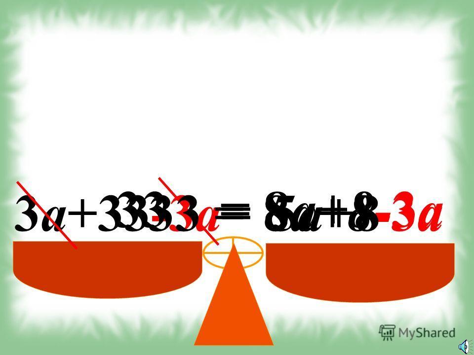 3а+33 = 8a+8 -3a 3а+33-3a= 8a+8 -3a