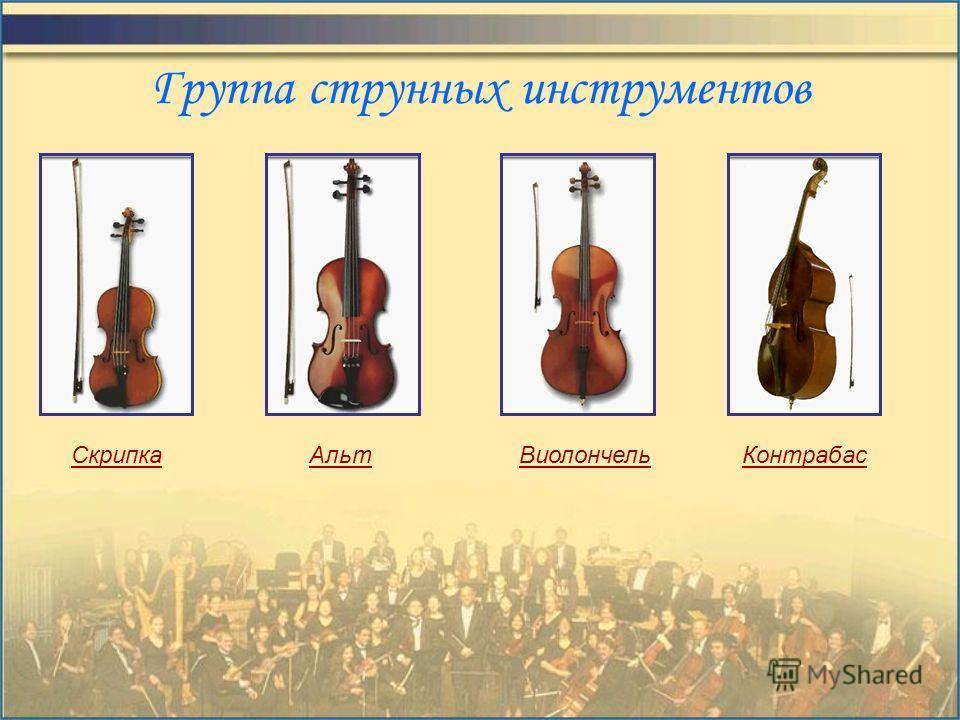 Состав симфонического оркестра Струнная группа Группа деревянных духовых Группа медных духовых Группа ударных Другие инструменты
