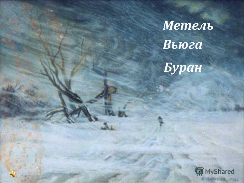 Метель Вьюга Буран