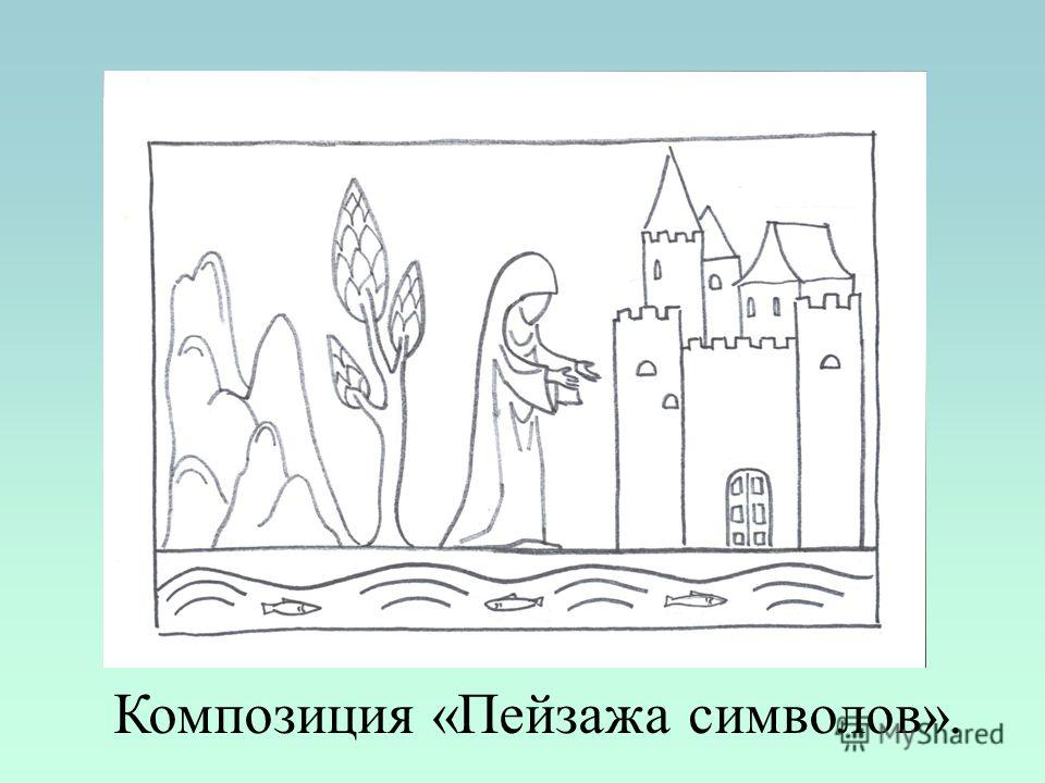 Композиция «Пейзажа символов».