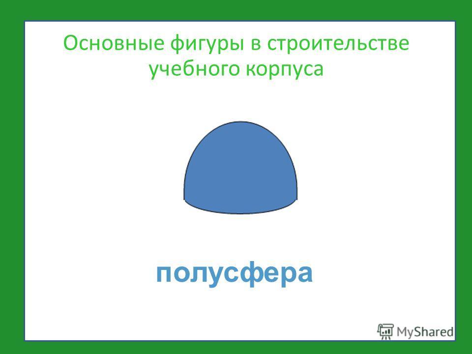 полусфера Основные фигуры в строительстве учебного корпуса