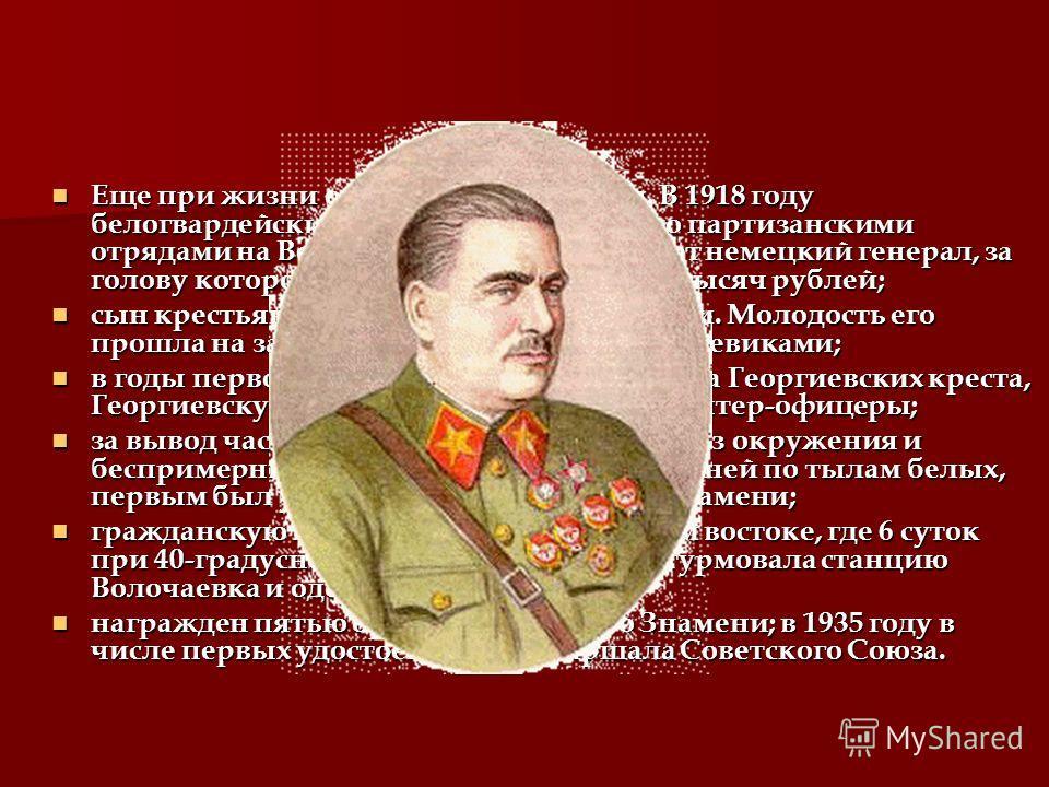 В 1920 участвовал в штурме Перекопа. В 1921-1922 руководил разгромом белогвардейцев под Волочаевкой. Репрессирован и погиб в 1938 г.