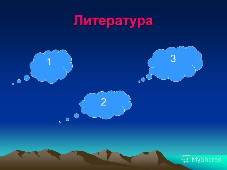 Литература 1 3 2