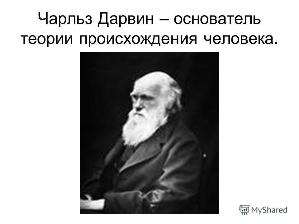 Чарльз Дарвин – основатель теории происхождения человека.