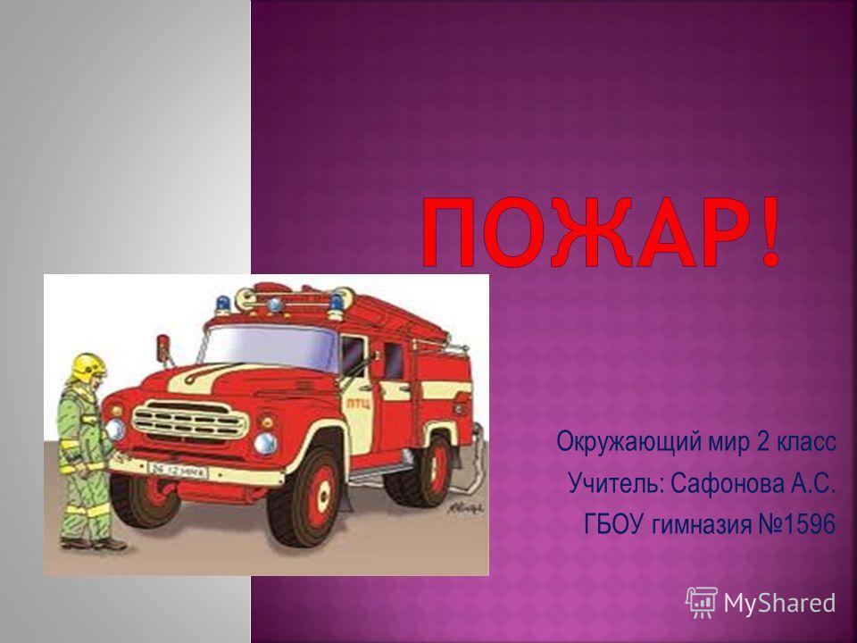 Окружающий мир 2 класс Учитель: Сафонова А.С. ГБОУ гимназия 1596