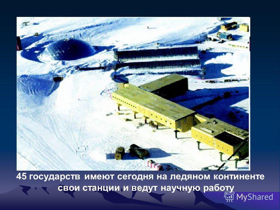 45 государств имеют сегодня на ледяном континенте свои станции и ведут научную работу