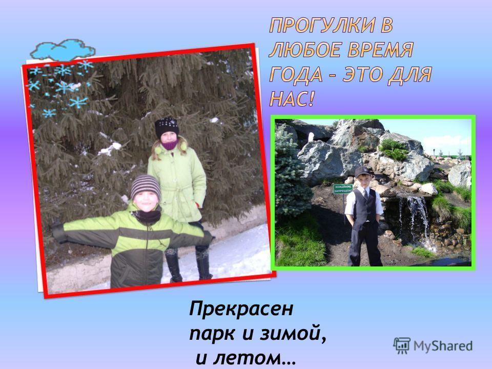 Прекрасен парк и зимой, и летом…