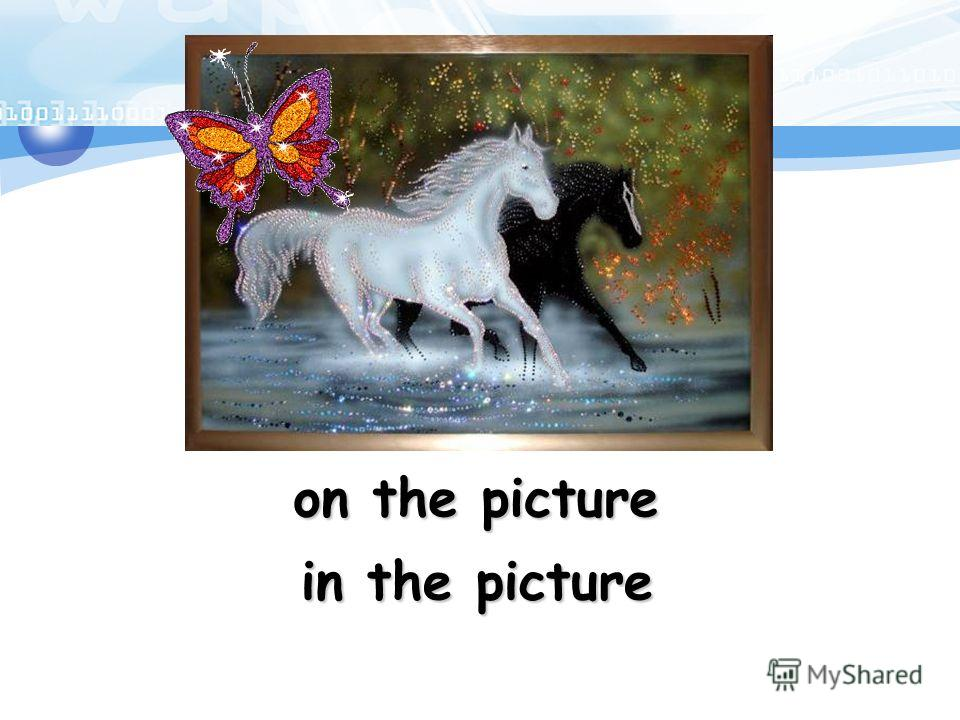on the picture in the picture