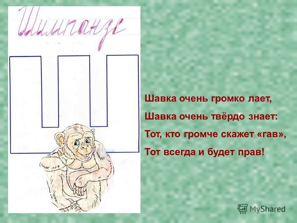Шавка очень громко лает, Шавка очень твёрдо знает: Тот, кто громче скажет «гав», Тот всегда и будет прав!