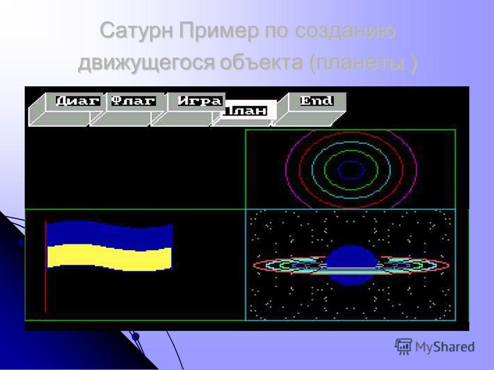 Сатурн Пример по созданию движущегося объекта (планеты )