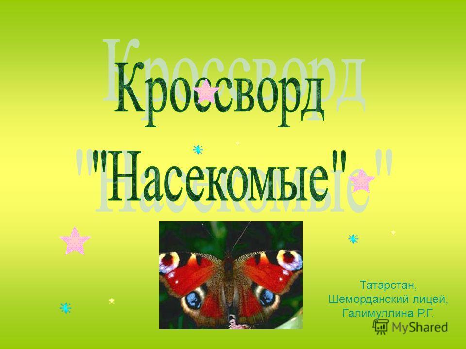 Татарстан, Шеморданский лицей, Галимуллина Р.Г.