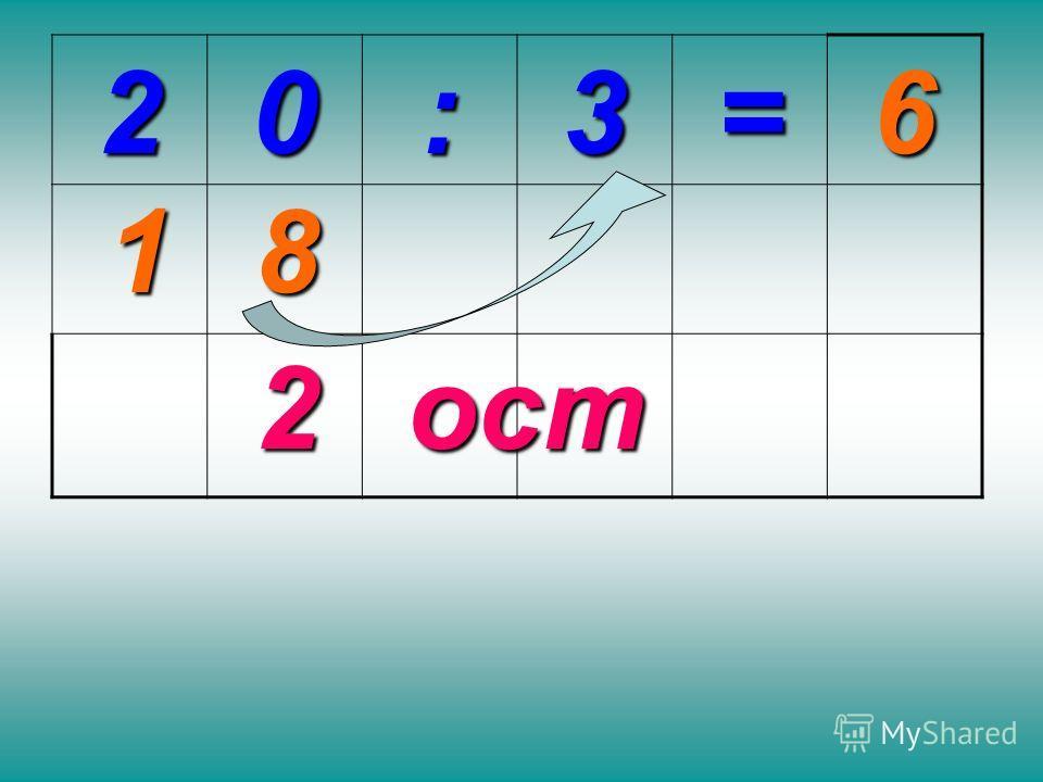 20:3= 2 81 6 ост