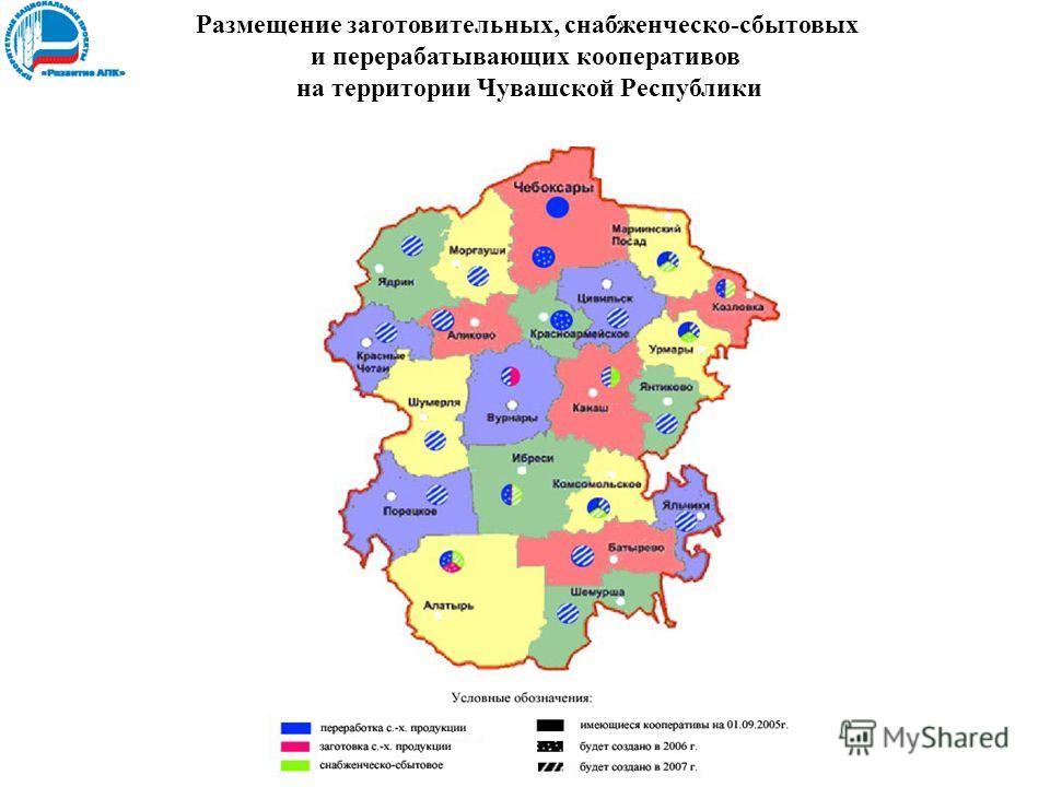 Размещение заготовительных, снабженческо-сбытовых и перерабатывающих кооперативов на территории Чувашской Республики