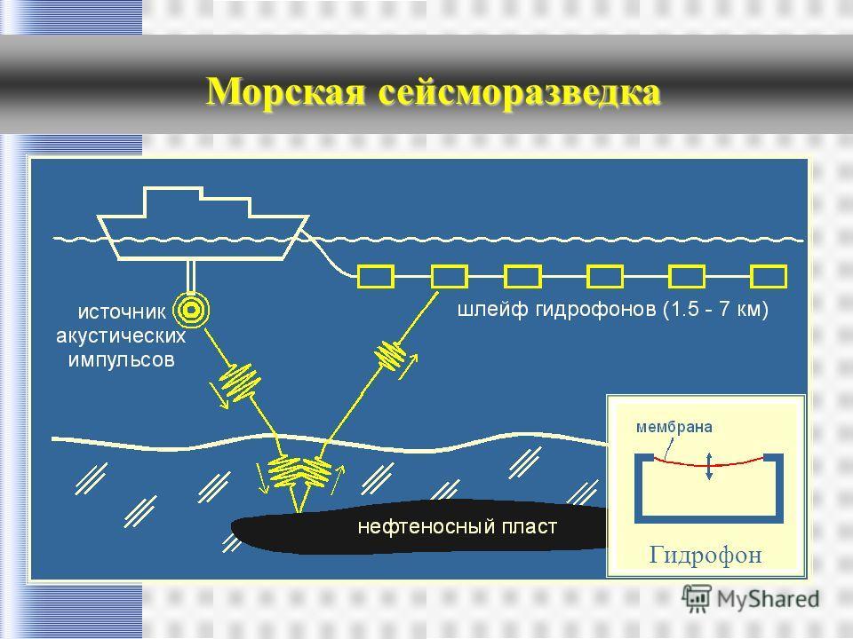 Морская сейсморазведка Гидрофон