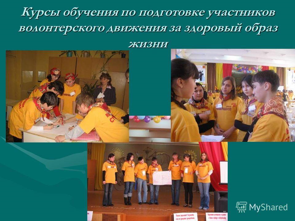 Курсы обучения по подготовке участников волонтерского движения за здоровый образ жизни