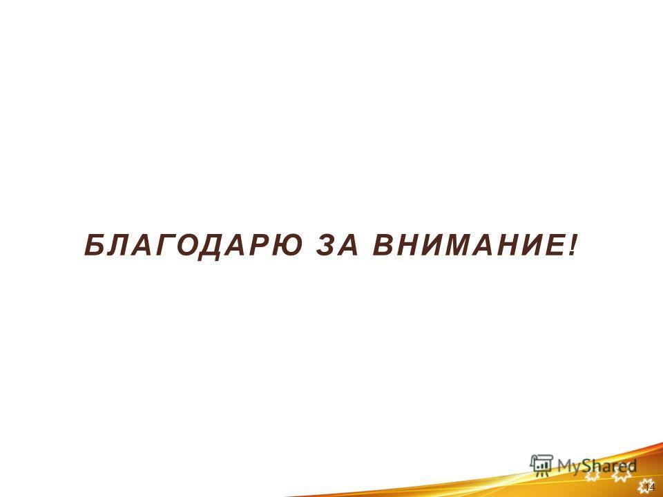 БЛАГОДАРЮ ЗА ВНИМАНИЕ! 14