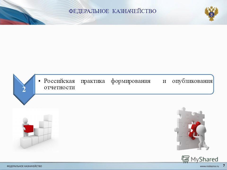 7 2 Российская практика формирования и опубликования отчетности ФЕДЕРАЛЬНОЕ КАЗНАЧЕЙСТВО