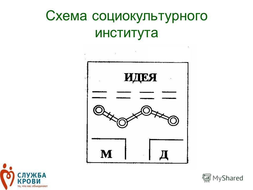 Схема социокультурного института