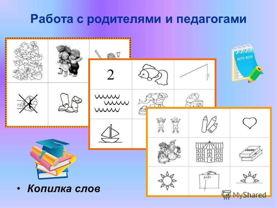Работа с родителями и педагогами Копилка слов