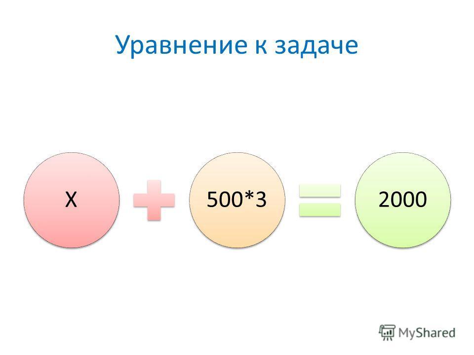Уравнение к задаче Х500*32000