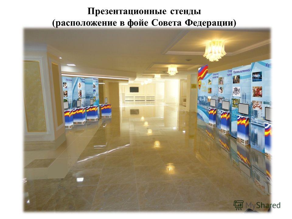 Презентационные стенды (расположение в фойе Совета Федерации)
