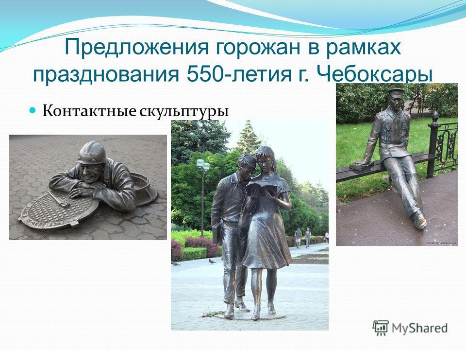 Предложения горожан в рамках празднования 550-летия г. Чебоксары Контактные скульптуры