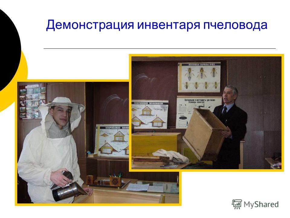 Демонстрация инвентаря пчеловода
