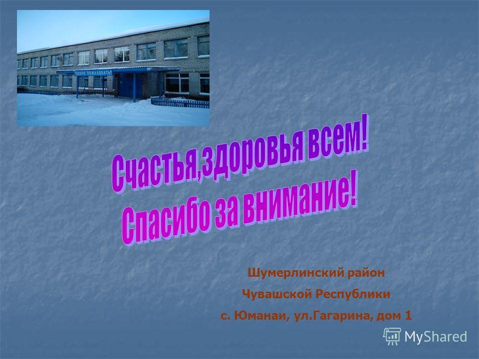 Шумерлинский район Чувашской Республики с. Юманаи, ул.Гагарина, дом 1