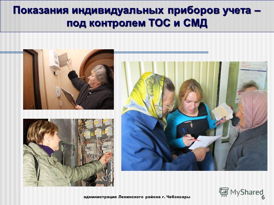 Показания индивидуальных приборов учета – под контролем ТОС и СМД администрация Ленинского района г. Чебоксары 6