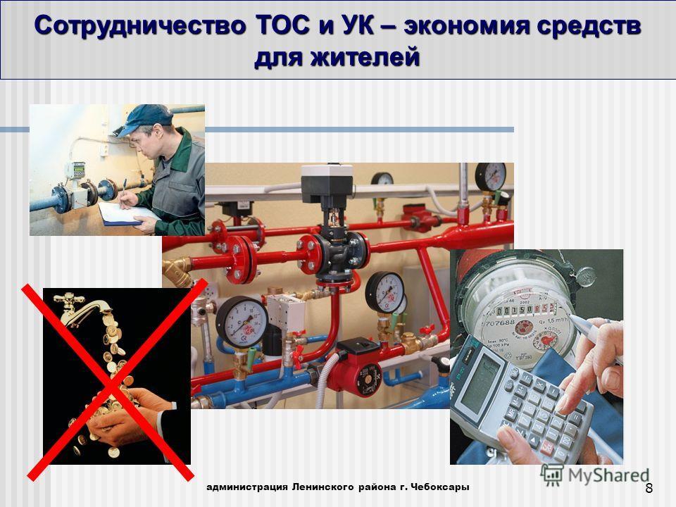 Сотрудничество ТОС и УК – экономия средств для жителей администрация Ленинского района г. Чебоксары 8