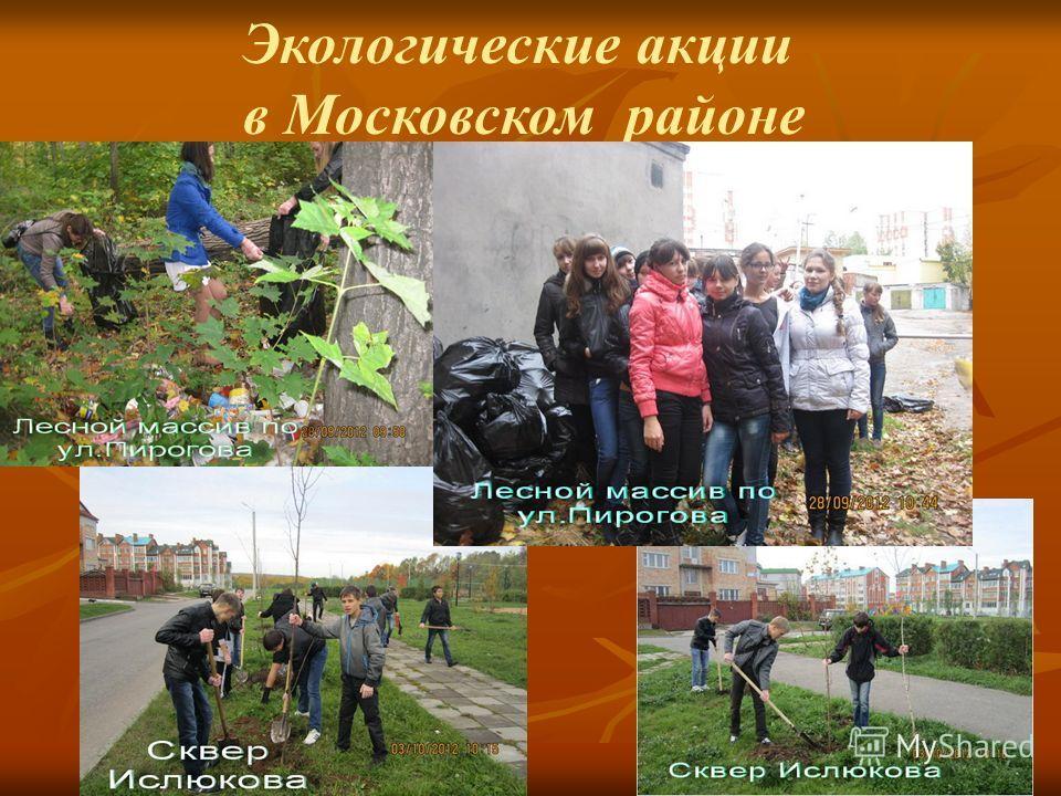 Экологические акции в Московском районе