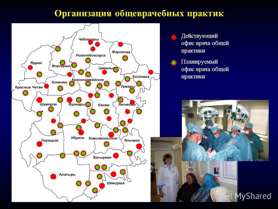 Организация общеврачебных практик Действующий офис врача общей практики Планируемый офис врача общей практики
