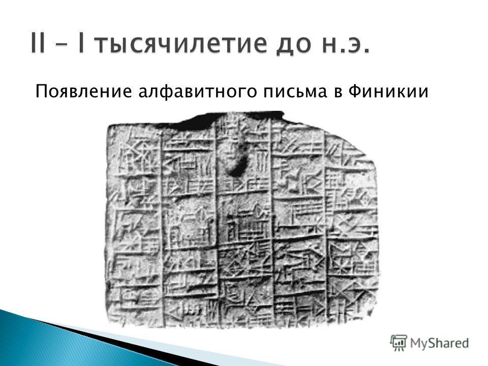 Появление клинописи в Двуречье В Древнем Египте появляются первые следы иероглифического письма