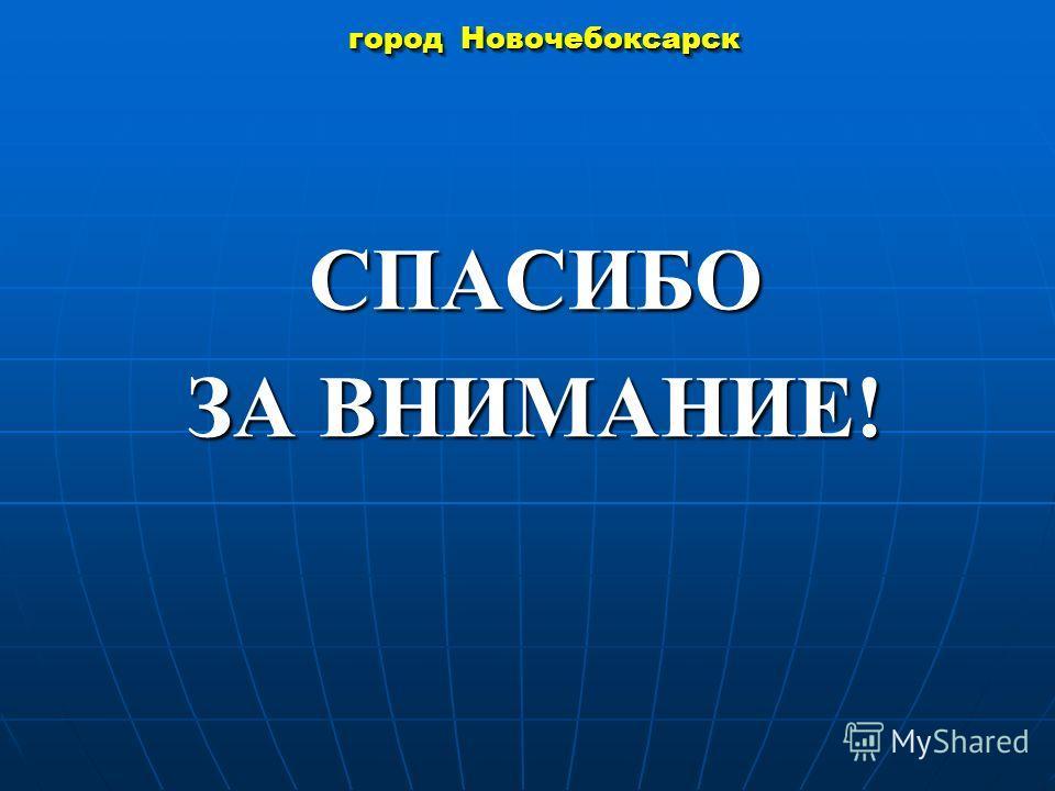 город Новочебоксарск СПАСИБО ЗА ВНИМАНИЕ!