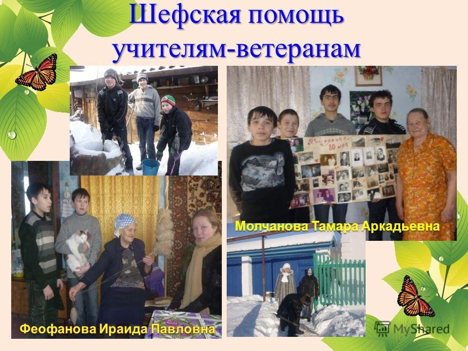 Шефская помощь учителям-ветеранам Молчанова Тамара Аркадьевна