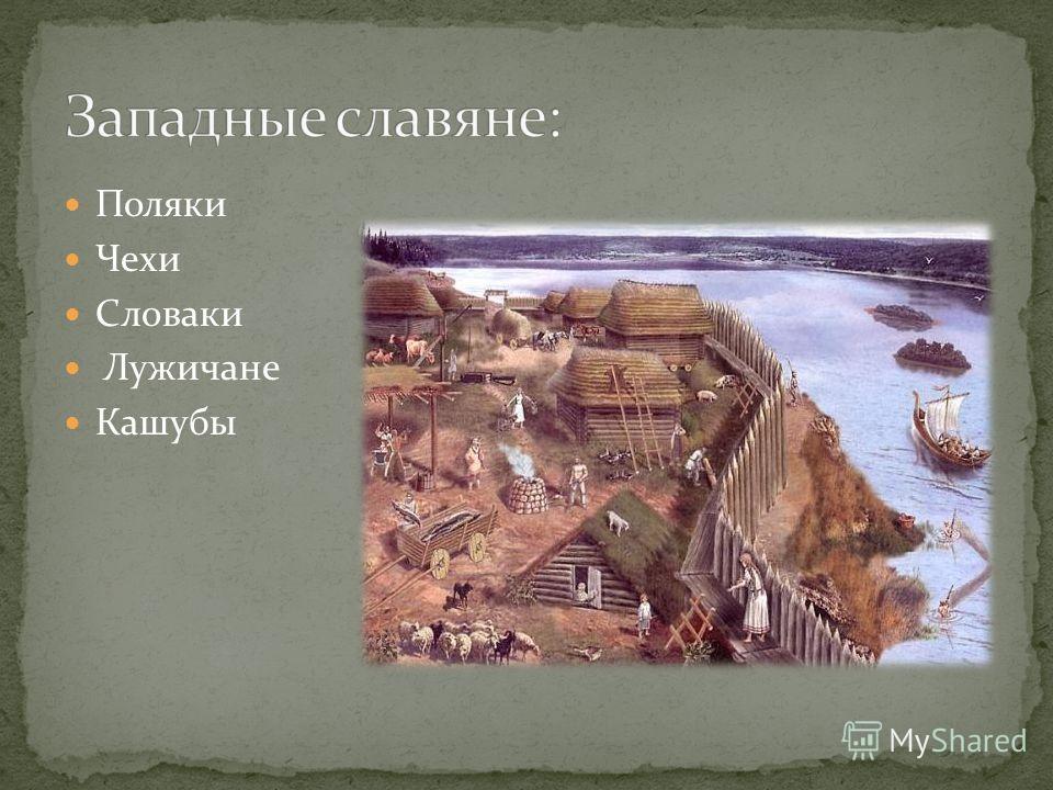 Поляки Чехи Словаки Лужичане Кашубы