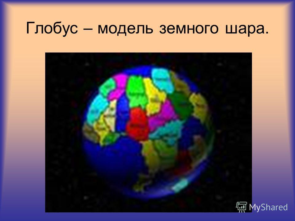Глобус – модель земного шара.