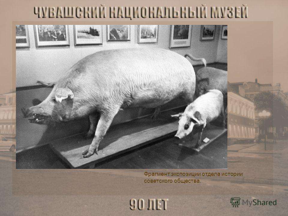 Фрагмент экспозиции отдела истории советского общества.