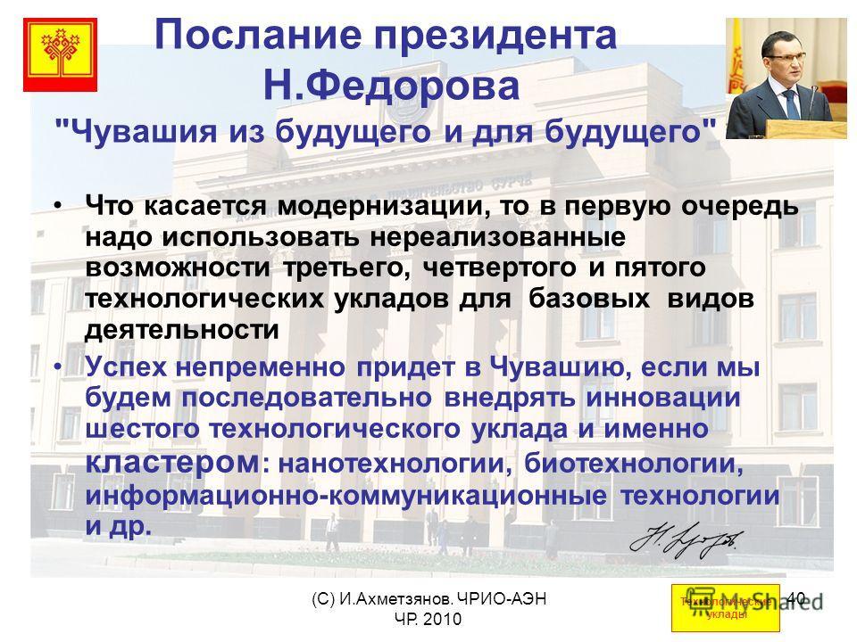 (С) И.Ахметзянов. ЧРИО-АЭН ЧР. 2010 40 Послание президента Н.Федорова
