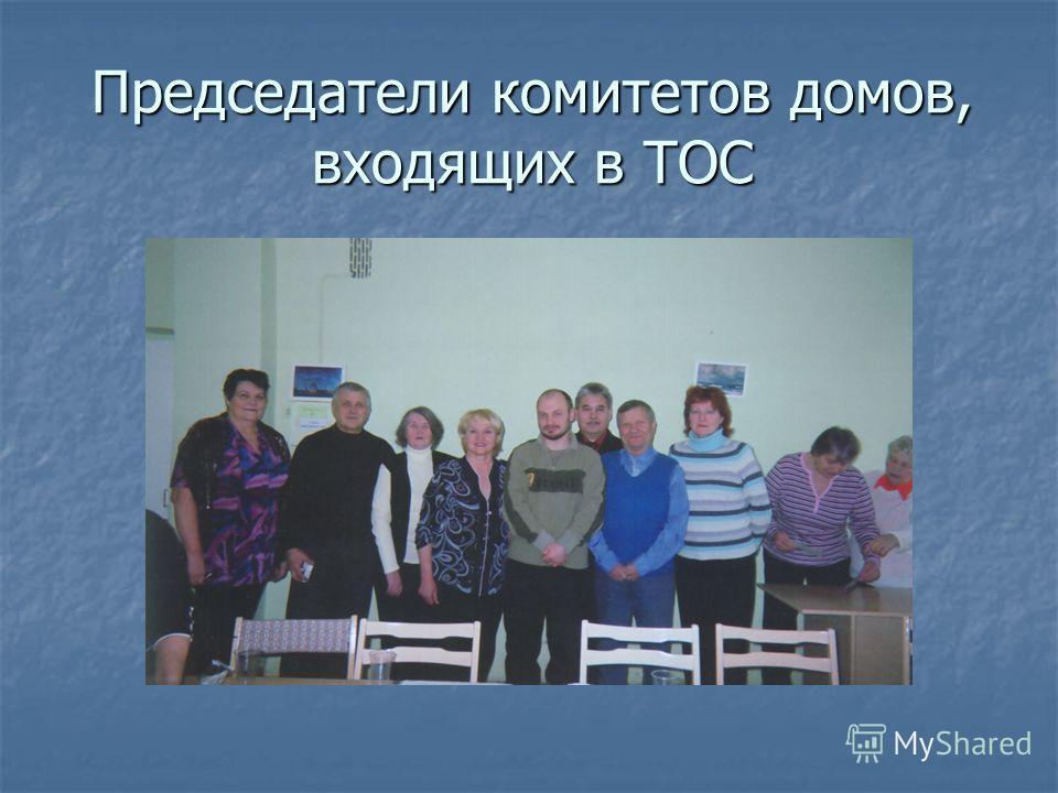 Председатели комитетов домов, входящих в ТОС