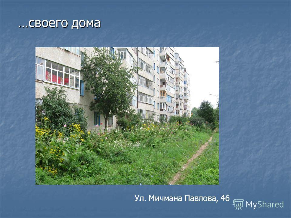 …своего дома Ул. Мичмана Павлова, 46