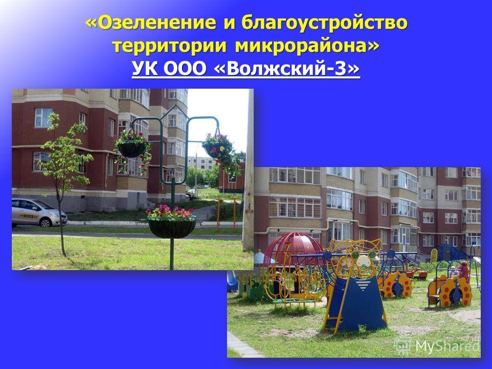 «Озеленение и благоустройство территории микрорайона» УК ООО «Волжский-3»